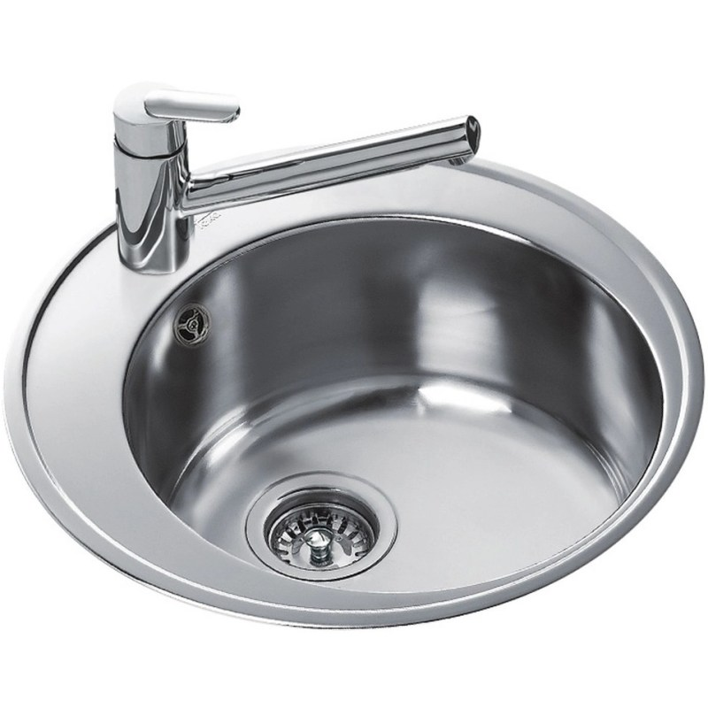 Teka Centroval 45 Single Round Bowl Inset Sink Stainless Steel