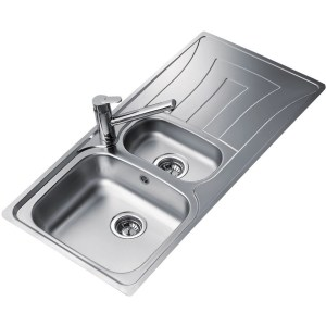 Teka Universo 1.5 Bowl & Drainer Inset Sink Stainless Steel