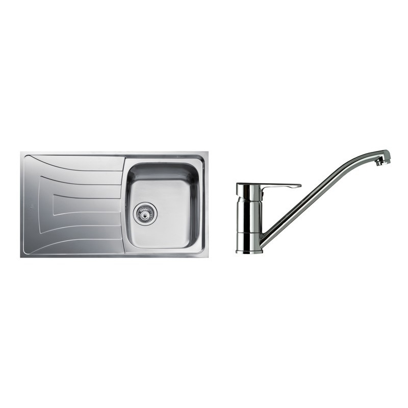 Teka Universo 86 1 Bowl Stainless Steel Sink & Single Lever Tap
