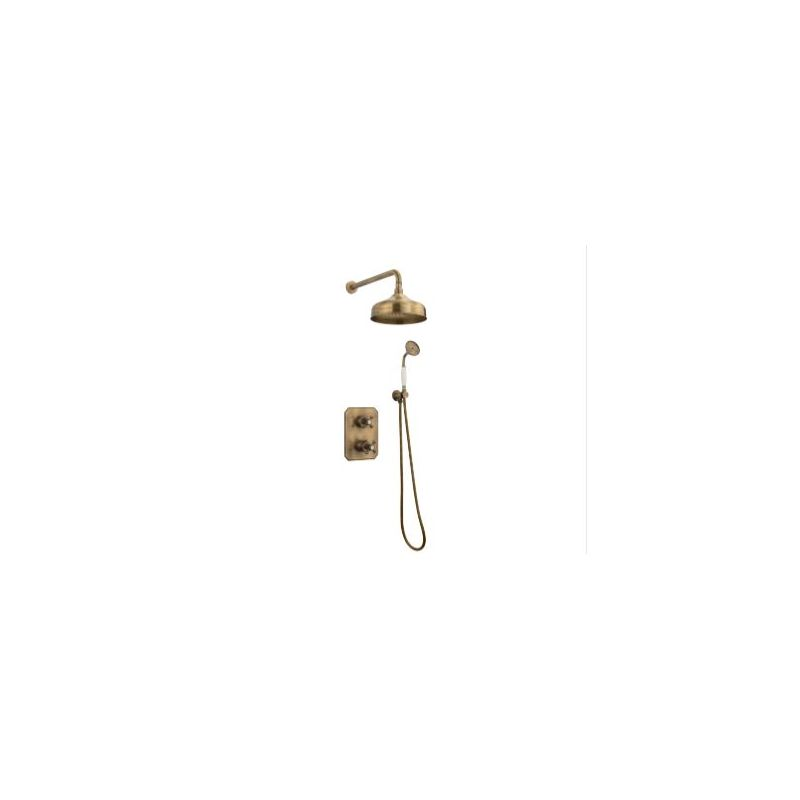 Tre Mercati Allora Concealed 2 Way Thermostatic Shower Set Bronze