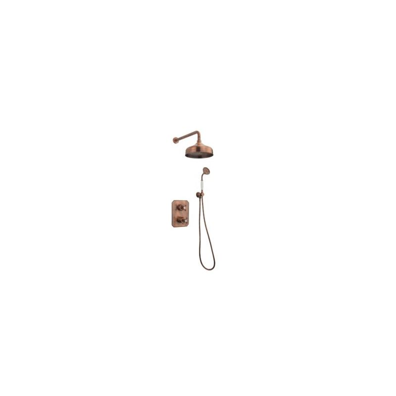 Tre Mercati Allora Concealed 2 Way Thermostatic Shower Set Copper