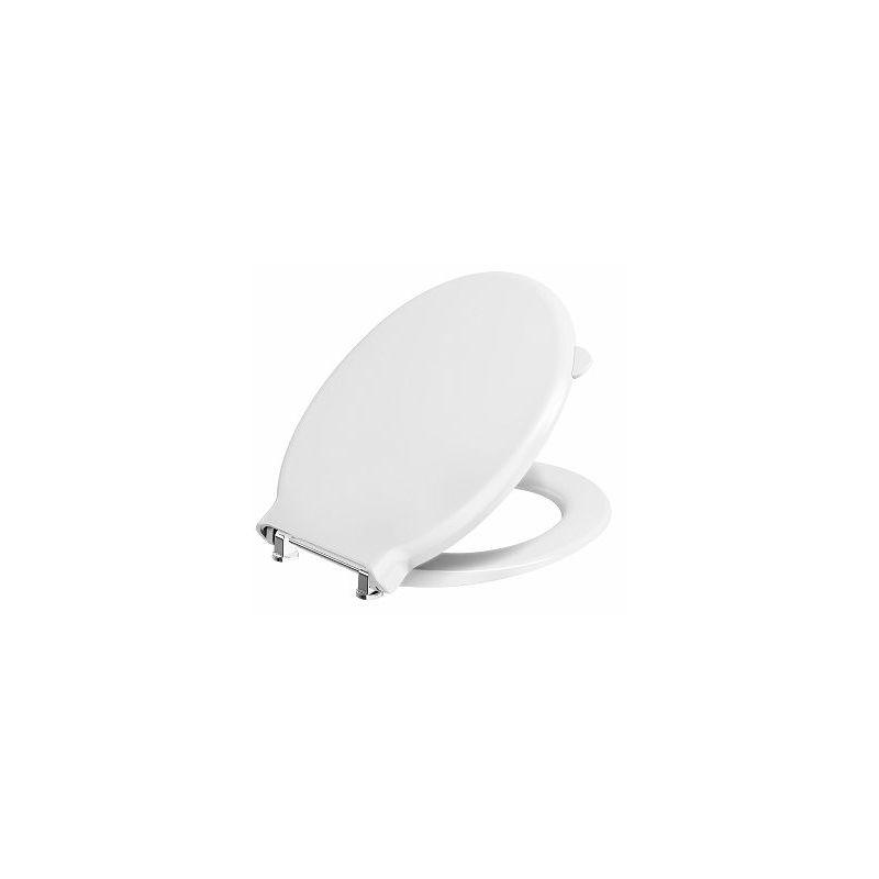 Twyford Avalon/Sola Toilet Seat & Cover Bar Hinge Top Fix White