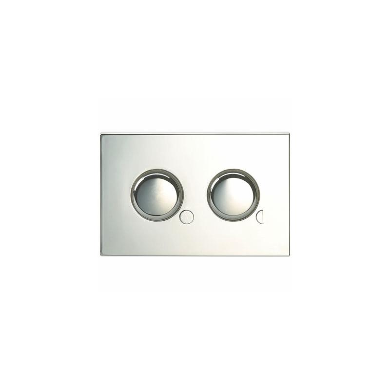Twyford Air Button Dual Flush Mini Plate Chrome