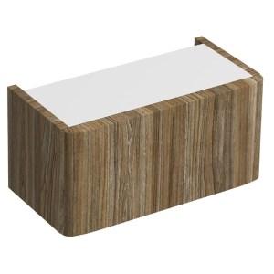 Twyford E100 Plinth for 450mm Cabinet Grey Ash Wood