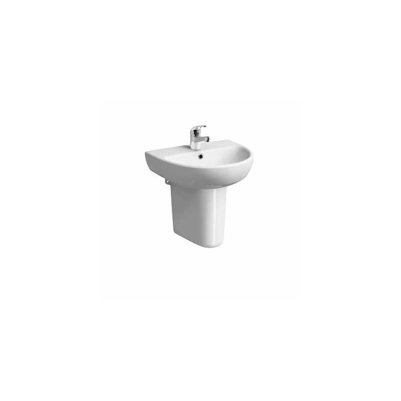 Twyford E100 Round Washbasin 600x480 1 Tap