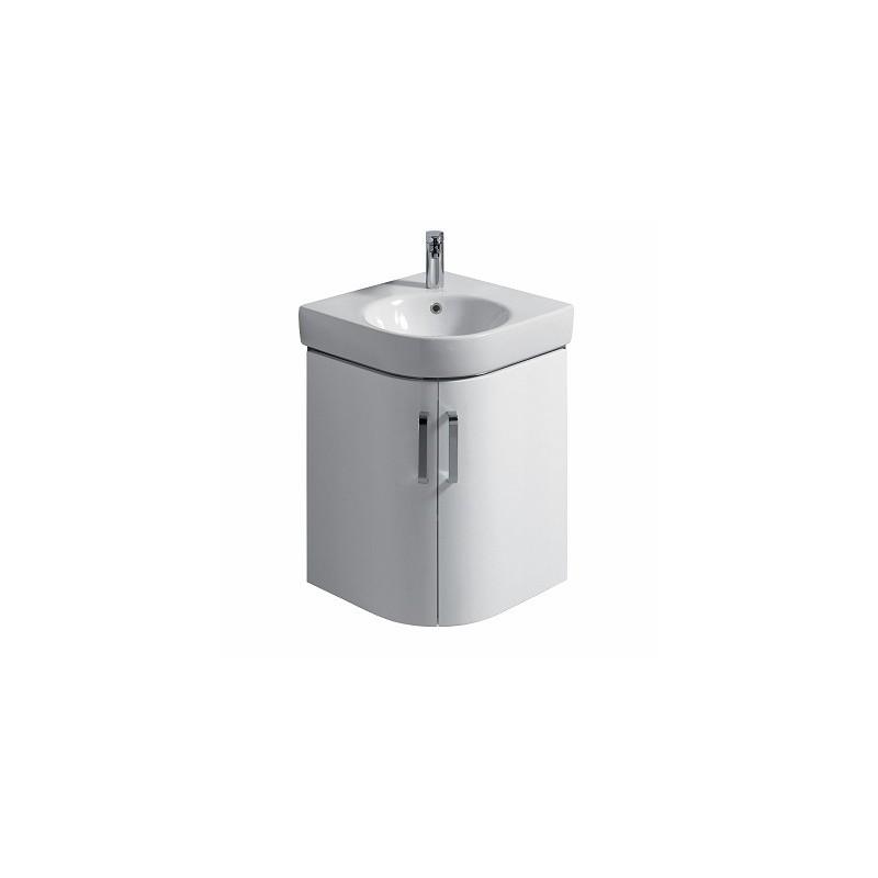 Twyford E200 Vanity Unit for Corner Handrinse Basin 500 White