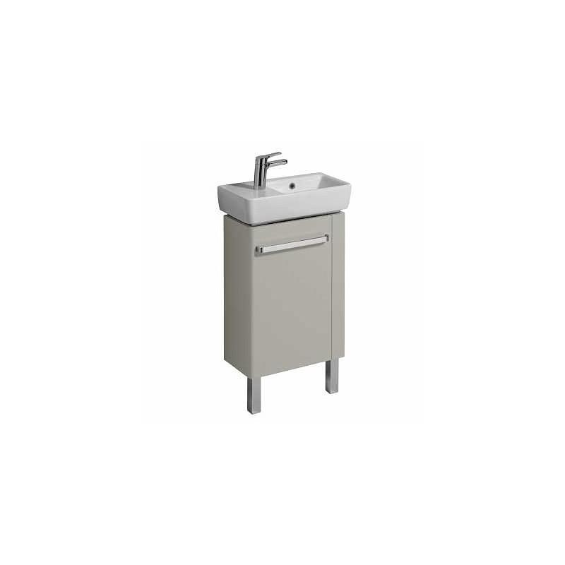 Twyford E200 Vanity Unit for Basin 500x250 RH Towel Rail Grey