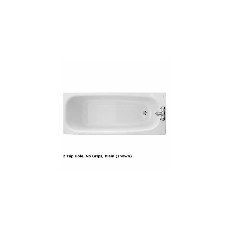 Twyford Neptune Bath 1700x700 2 Tap Slip Resist with Grips