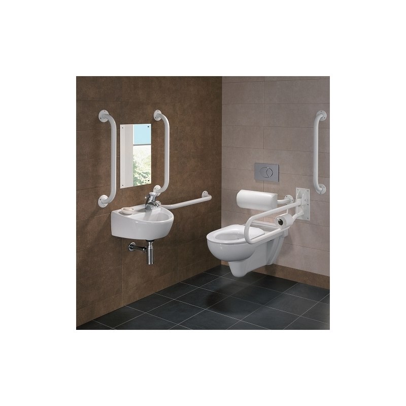Twyford Doc M Rimless Wall Hung Pack, Right Hand, White