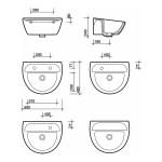 Twyford Sola Medical Washbasin 500x400 0 Tap