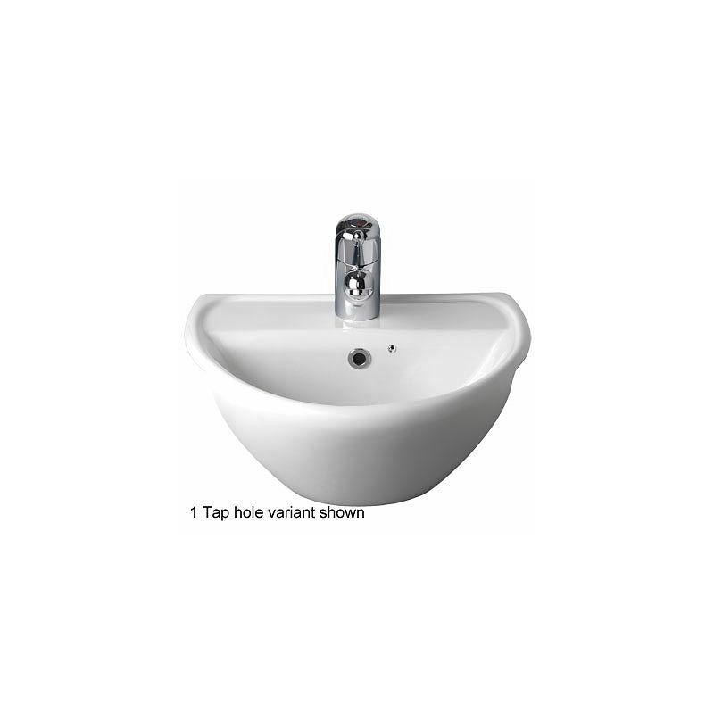Twyford Sola Optimise Semi-Recessed Basin 450x380 2 Tap