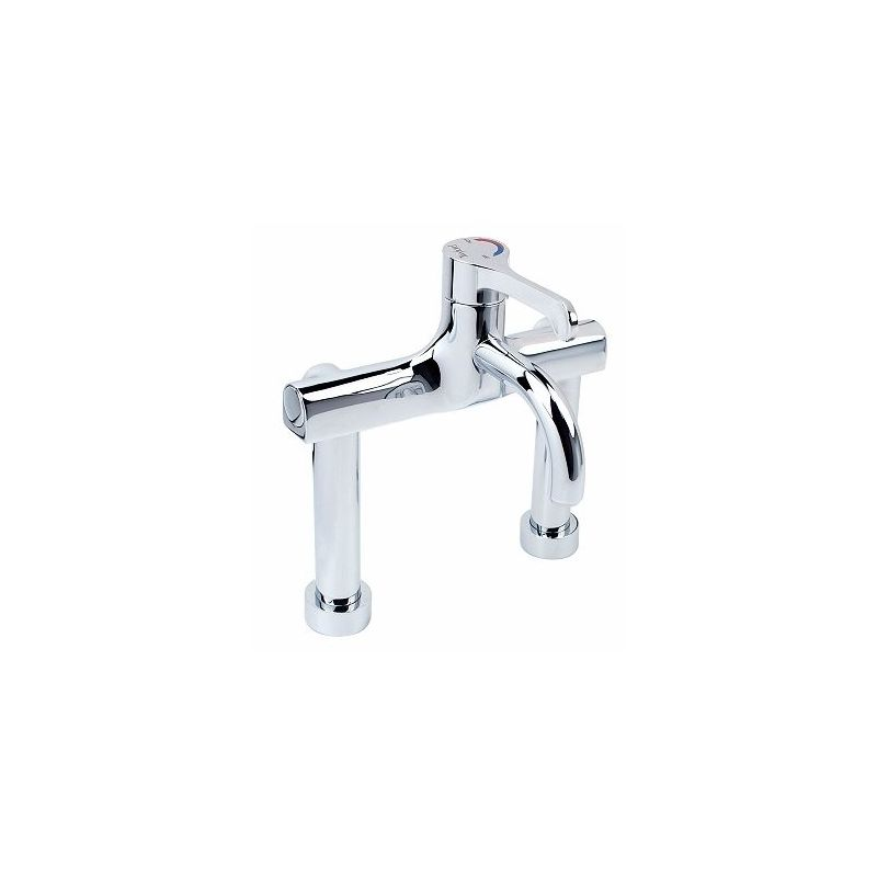 Twyford Sola Thermostatic Deck Surgeons Mixer Lever Tap, Fixed Spout