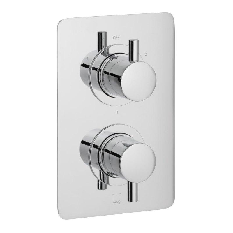 Vado Celsius 3 Outlet 2 Handle Thermostatic Valve