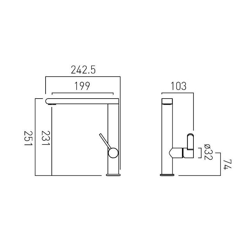 Vado Ion Mono Sink Mixer