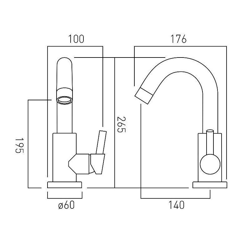 Vado Elements Air Mono Sink Mixer
