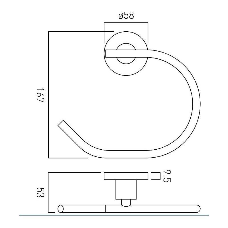 Vado Elements Towel Ring