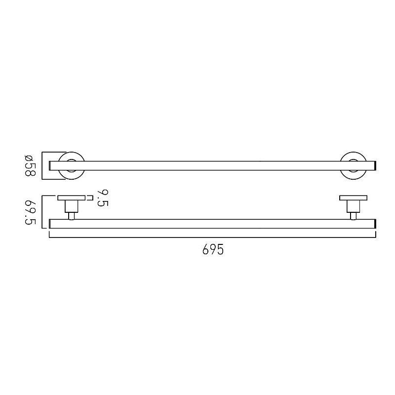Vado Elements Towel Rail 695mm