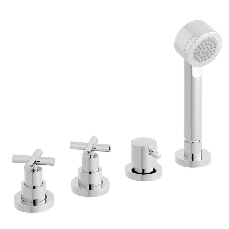 Vado Elements 4 Hole Bath Shower Mixer without Spout