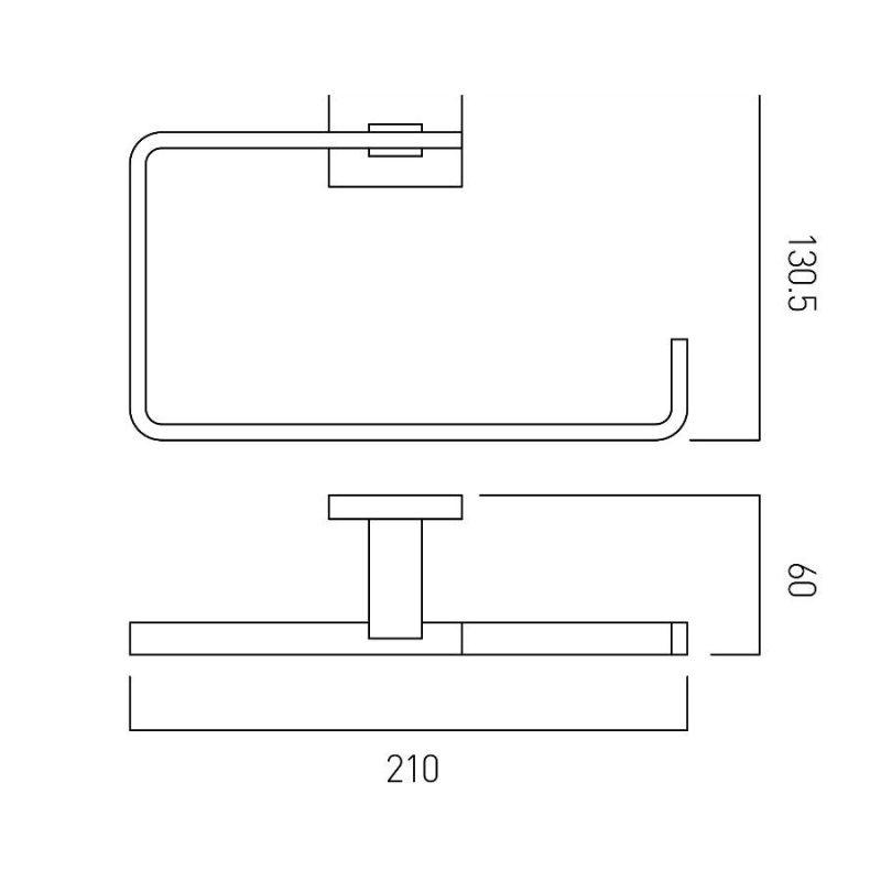Vado Level Towel Ring