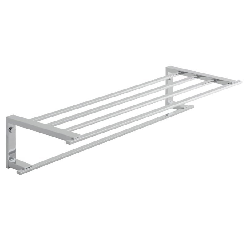 Vado Level Towel Shelf with Towel Rail 550mm