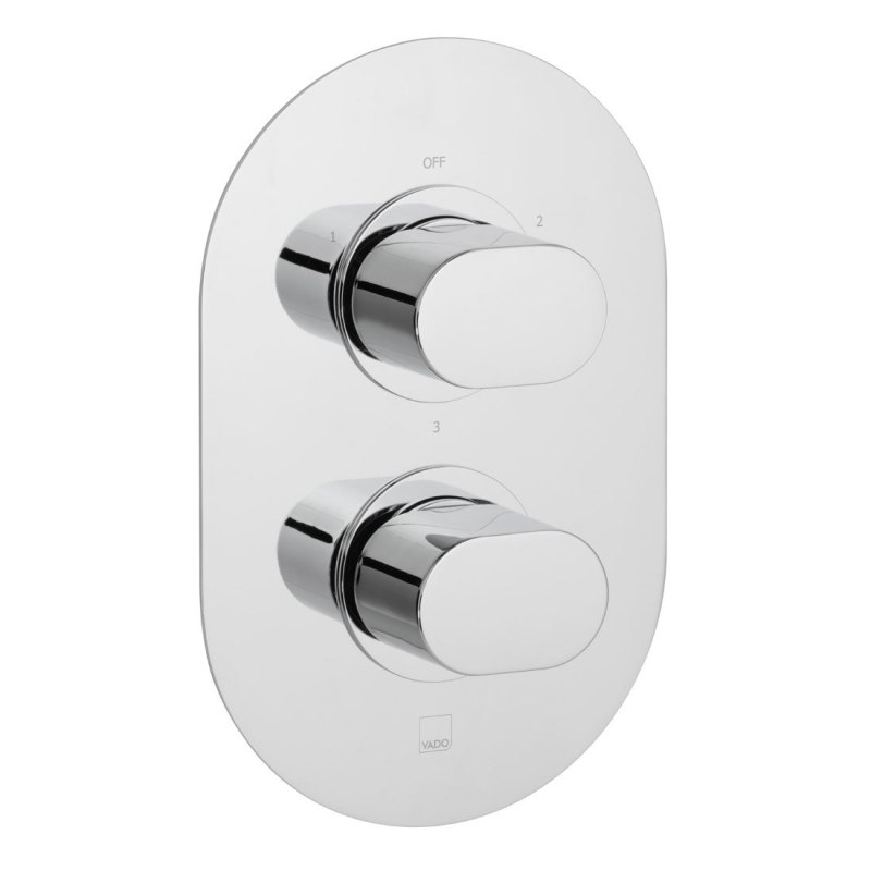Vado Life 3 Outlet 2 Handle Thermostatic Valve