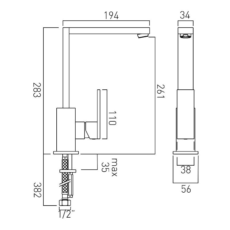 Vado Notion Mono Sink Mixer