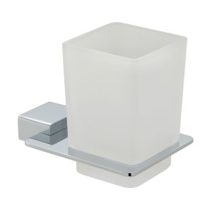 Vado Phase Frosted Glass Tumbler & Holder