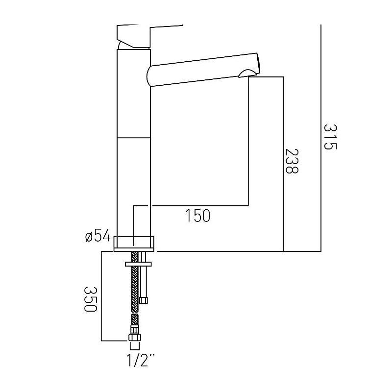 Vado Sense Extended Mono Basin Mixer
