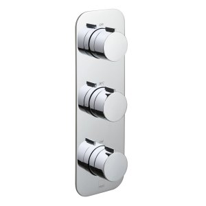 Vado Altitude 2 Outlet 3 Handle Vertical Thermostatic Valve