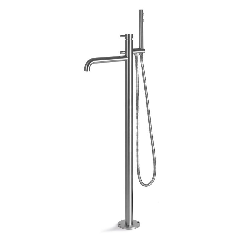 Vema Tiber Floor Standing Bath/Shower Mixer Stainless Steel