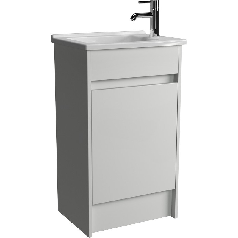 Vitra Compact Floorstanding Washbasin 50cm Gloss White