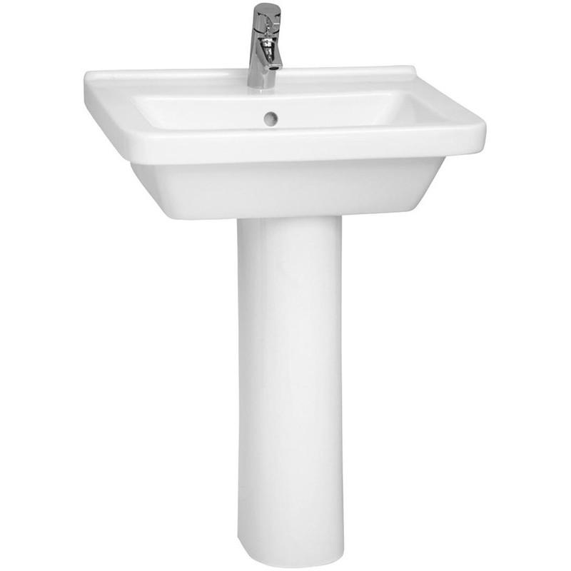 Vitra S50 Basin 60cm Square 1 Taphole White