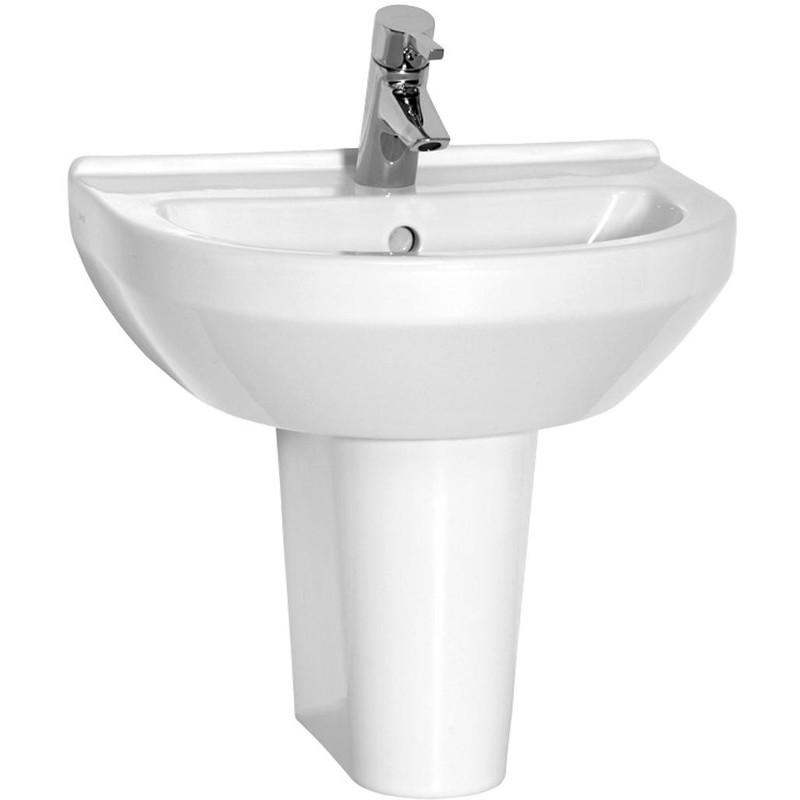 Vitra S50 Basin 50cm 1 Taphole Round White