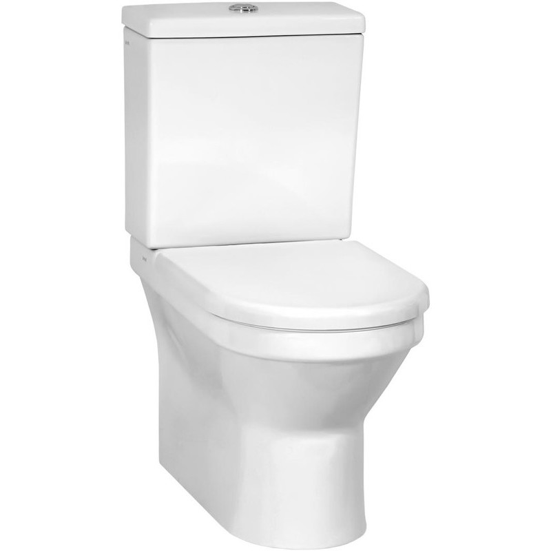 Vitra S50 Close-Coupled Fully Back To Wall Toilet with Soft Close Seat