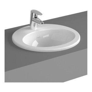 Vitra S20 Compact Countertop Basin 43cm Oval 1 Taphole