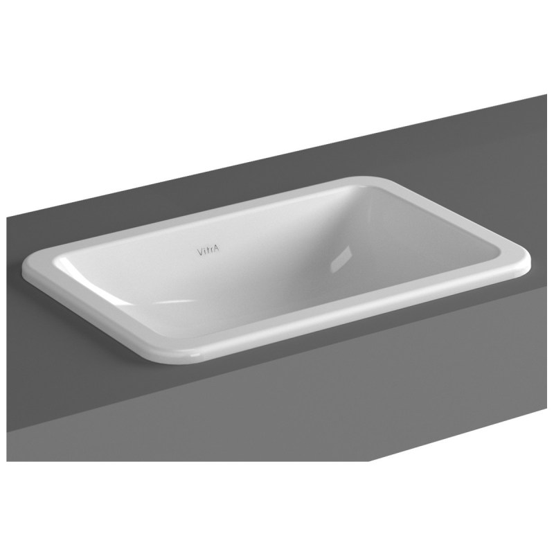 Vitra S20 Compact Countertop Basin 55cm Square No Taphole