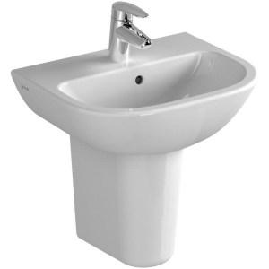 Vitra S20 Cloak Basin 45cm 1 Taphole White