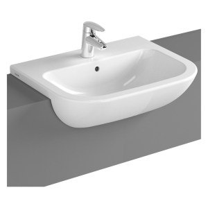 Vitra S20 Semi Recessed Basin 55cm 1 Taphole White