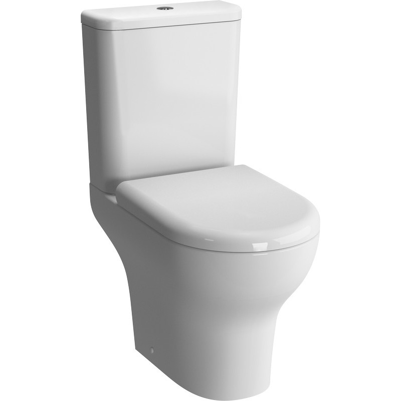 Vitra Zentrum Close Coupled Open Back Toilet with Soft Close Seat