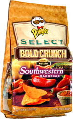 Pringles Select Bold Crunch Potato Southwestern Barbecue