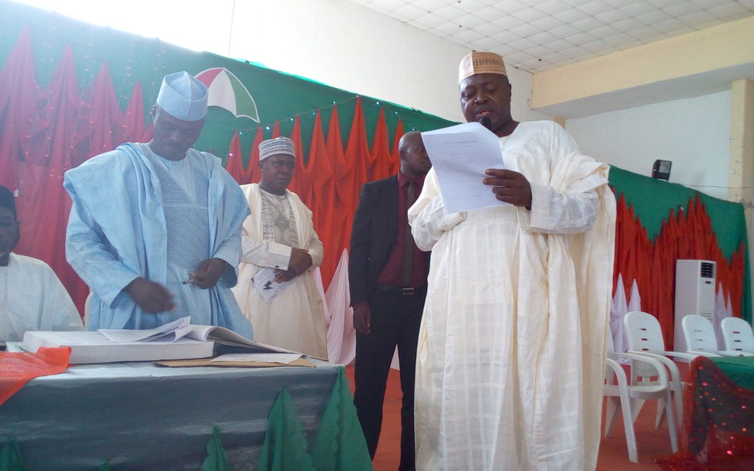 Newly Elected Officials of PDP Taraba State Chapter Sworn in.