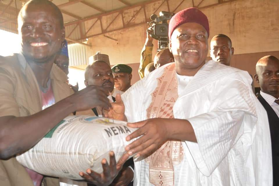 Seed Distribution: Gov. Ishaku Attends to Victims Affected by Crisis in the State