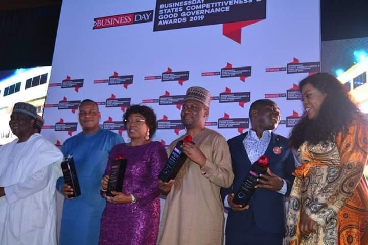 Gov. Ishaku Honoured with an Award by Business Day