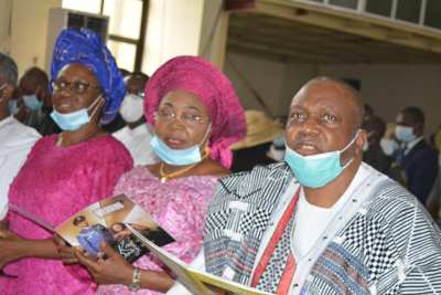 Gov. Ishaku and His Wife during the wedding solemnization of his daughter, Clara Kairi Darius.