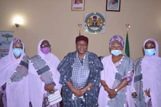 The Visiting Governor's Wives in a Group Picture with Governor Ishaku during their visit.