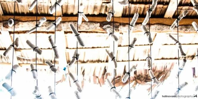 Cottage curtains in Juag fish sanctuary