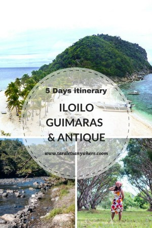 Iloilo-Guimaras itinerary for 5 days, with day trip to Antique (Philippines). Includes itinerary, costing and accommodation.