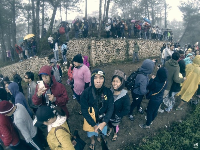 Crowd waiting for sunrise in Kiltepan, Sagada