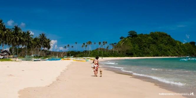 Nacpan Beach in El Nido, Palawan | budget-friendly El Nido travel guide