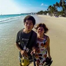 Kat and Hali in Boracay